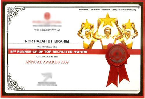 Caliph unit trust Agency-top-recruiter-award-azah