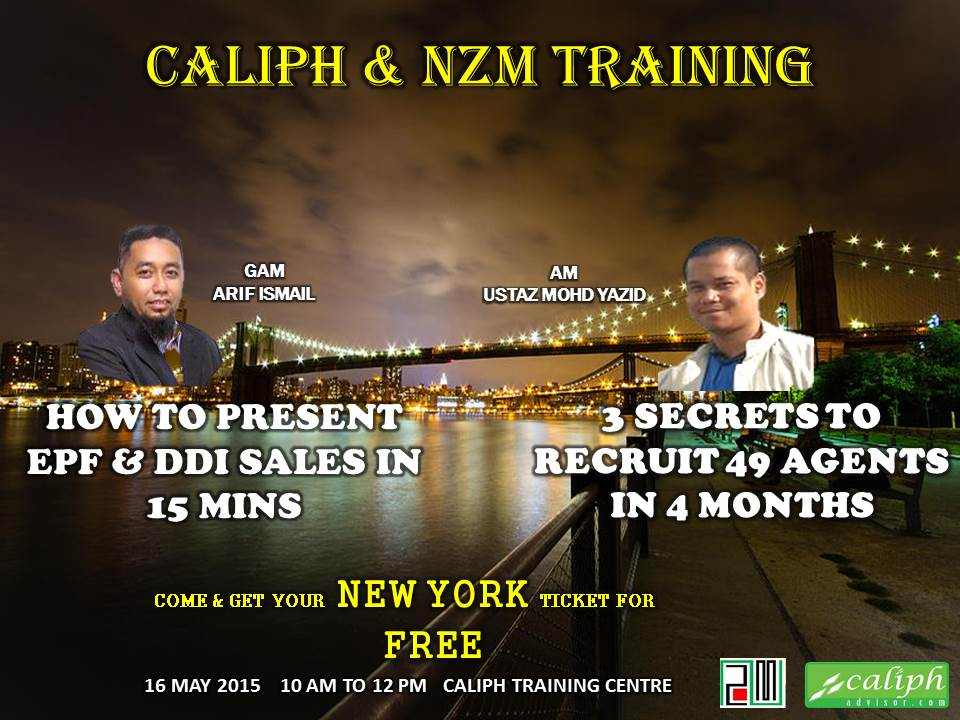 Caliph & NZM Training on 16 May 2015 at Caliph Training Centre