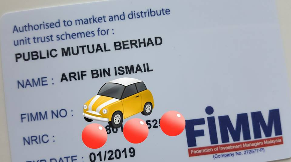 FIMM unit trust consultant public mutual agent card sample income salary pendapatan agen unit amanah